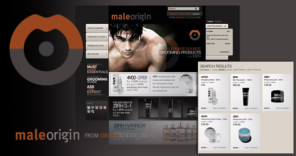 male origin logo design brand design website design